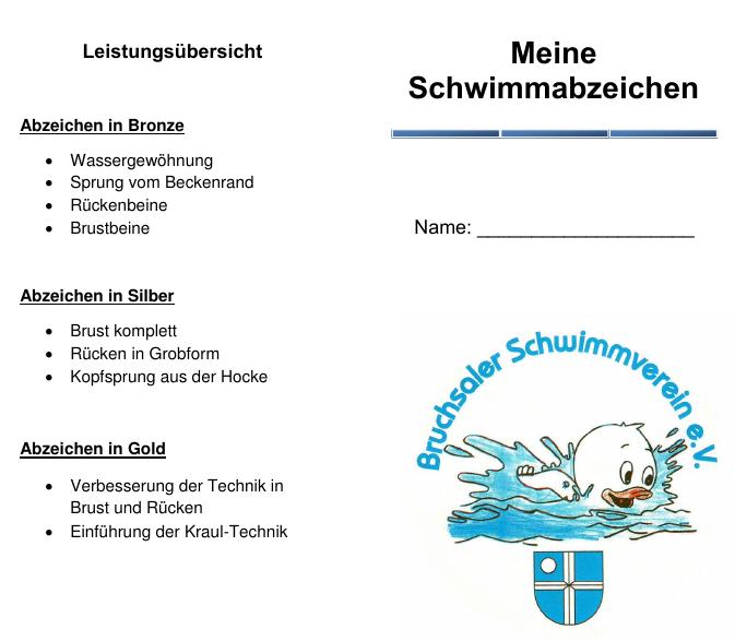 Bruchsaler Schwimmverein e.V. | Schwimmlernkurse für Kinder